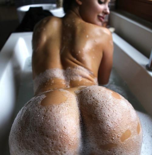 bending over bath nude