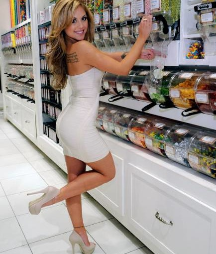 milf in tight white dress